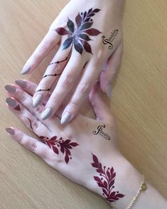 Best Mehndi Designs for Hands Fingers. You can easily make mehndi designs on your hands feet step by step. Modern Henna Designs, Henna Tattoo Designs Simple, Floral Henna Designs, Finger Henna Designs, Indian Mehndi Designs, Henna Art Designs, Mehndi Designs For Girls, Mehndi Designs For Beginners, Bridal Henna Designs