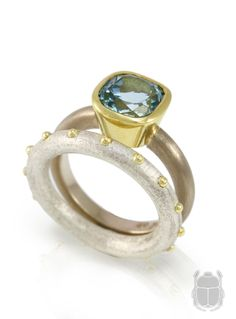 Scarab sea's aquamarine in all its beauty, to be worn and admired.  #rings #aquamarine #scarabjewellery