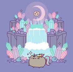 It's a rare magical pusheen! Quick, take a picture! Nyan Cat, Gato Pusheen, Pusheen Love, Pusheen Unicorn, Unicorn Kitty, Kawaii 365, Kawaii Cute, Kawaii Drawings, Cute Drawings