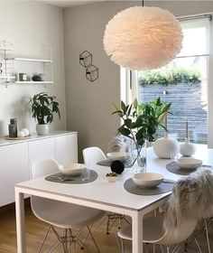 A gorgeous dining room by @interior_by_nina, Visit Eos Light Shade available at www.istome.co.uk