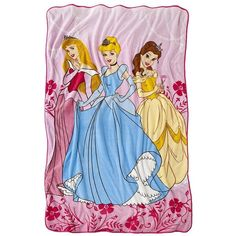 Disney Princess Blanket ($25) ❤ liked on Polyvore featuring blankets & throws and kids' bedding