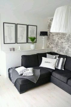 Living Room Design Ideas Black Sofa enjoy dramatic design at homedecorating with darker colours