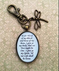 Outlander+Blood+Vow+Quote+Keychain