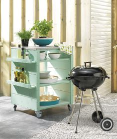 bbq trolley diy