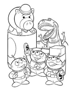 44 best Toy Story Colouring Pictures images on Pinterest | Coloring ...