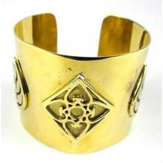 Bomb Casing with Leaf Design Cuff - Craftworks Cambodia  #Handcrafted #Unique #BOMB