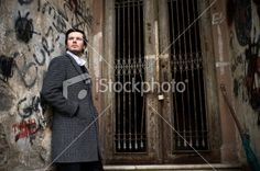 Attractive man in backstreets Royalty Free Stock Photo