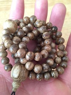 Agarwood Natural prayer 108 mala beads from Borneo Indonesia – Grandawood- Agarwood Australia