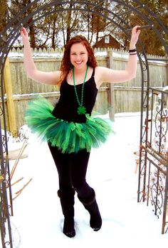 Green St Patrick's Day Adult Tutu by OhSoPrettyDesigns on Etsy, $35.00