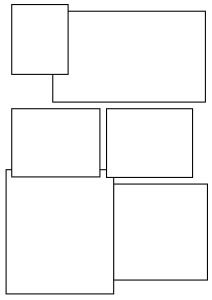comic book layout design 5 overlapping boxes - Ellen's Home Page Comic Book Layout, Comic Book Pages, Comic Books, Comic Strip Template, Comic Strips, Make A Comic Book, Comic Bubble, Comic Tutorial, Page Layout Design