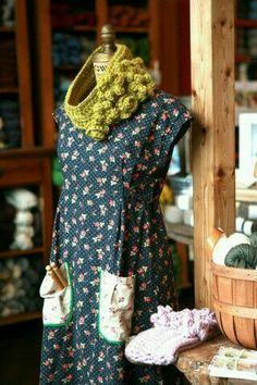 LYS Tour 2014 – Tolt Yarn and Wool and another dress from Dottie Angel Angel Dress, Dress Up, Smock Dress, Tunic, Dottie Angel, Granny Chic, House Dress, Looks Vintage, Vintage Fabrics