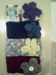 Stretchy headbands with flower!