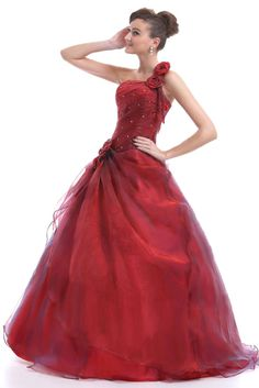 FairOnly M6 One Shoulder Formal Evening Prom Ball Gown Dress Size6 8 10 12 14 16