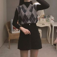 Adrette Outfits, Korean Outfits, Retro Outfits, Cute Casual Outfits, Fashion Outfits, Fashion Pants, Fall Outfits, Fashion Ideas, Teen Girl Fashion