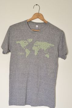 from pinner:our adoption fundraiser t-shirt... American Apparel heathered gray crew neck or v-neck!