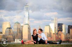 hoboken engagement shoot, hoboken nj, freedom tower, engagement photos, red bottoms, urban engagement photos #hoboken #freedomtower
