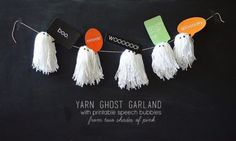 DIY Yarn Ghost Garland