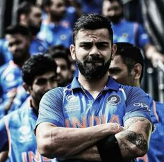 Virat Kohli, captain of India waits to lead his team out against Pakistan ahead of the ICC CHampions Trophy match between India and Pakistan at Edgbaston on June 2017 in Birmingham, England. Get premium, high resolution news photos at Getty Images Champions Trophy, Boxing Champions, India Vs Pakistan, Virat And Anushka, Ab De Villiers, Sports Highlights, Sports Website, Cricket Match, Cricket Score