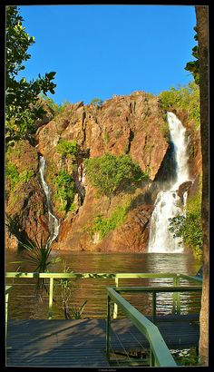 The lookout Matt and Macie stood on during their picnic date at Litchfield Wangi Falls, Litchfield National Park, Northern Territory, Australia Wonderful Places, Beautiful Places, Amazing Places, Tasmania, Litchfield National Park, Beautiful Waterfalls, Countries Of The World, Australia Travel, Science Nature