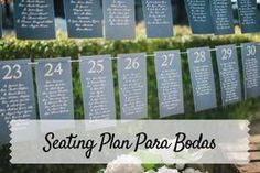 Ideas para un seating plan original. La mejor manera de organizar tu boda