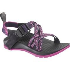 Girl's ZX/1 Sandal by Chaco Sandals in Wildflower - Size 1. Keep your kid's feet comfortable and supported with Chacos! Chacos are still the go-to sandal for river guides and wilderness professionals. With a single buckle, easily adjustable pull-through strap system your feet are secure. Chaco had a certified pedorthist design the foot bed with aggressive arch support, sculpted heel cup and heel risers for fit and stability. All models have a heel-leash for front-back stability. Chacos for…