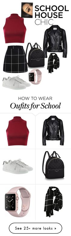 """Typical school cute outfit"" by hallerowee on Polyvore featuring Pilot, Acne Studios and Yves Saint Laurent"
