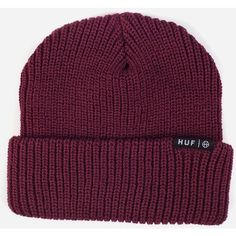 af665f374e7 Huf Usual Beanie Hat - Burgundy (110 BRL) ❤ liked on Polyvore featuring  accessories