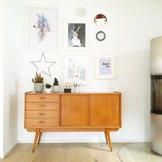 Wallart #interior #einrichtung #dekoration #decoration #wohnen #living #room #Zimmer #Vintage #sideboard #wandgestaltung #deko Foto: Luise