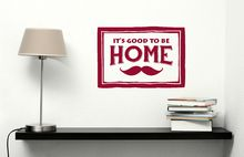 Wall Decal with Mustache Art, Vinyl Sticker for the Home featured in Red