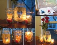 DIY Valentine's Day Jar Candles