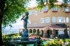 Estate Courtyard and Cliff House @ Arbor Crest Wine Cellars by Ifong Chen Photography
