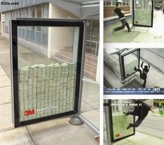 Unbreakable Ad Displays - The 3M Security Glass Window Puts Money on the Line