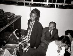 On the decks: Legendary artists Jean-Michel Basquiat and Francesco Clemente in 1985