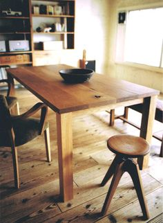 Oak Table, Truck furniture (japan)