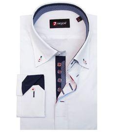 Camisas Roma Popelín stetch Blanco