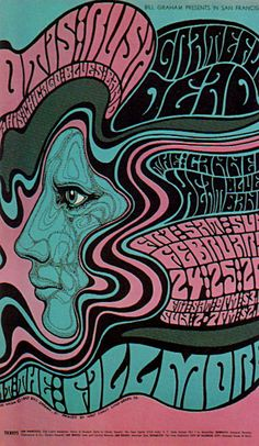 This design by Wes Wilson. He made sure that his posters capture the essence of the era. the psychedelic design made sure to capture that.