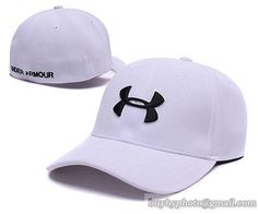 d172fc4261c Mens Womens Under Armour UA bold logo Headline Stretch Fit Vented Secure  Colour Adjustable Cap - White
