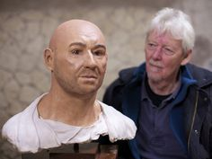 Facial reconstruction of 'the muleteer' - felled by pyroclastic flow as he ran through the streets of Pompeii 2,000 years ago