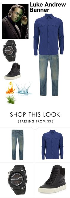 """""""Luke Banner (character outfit)"""" by emerald-writer-girl ❤ liked on Polyvore featuring 6397, Hardy Amies and Vince"""