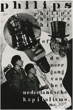 Communistische propaganda waarin Philips NV beschuldigd wordt van de uitbuiting van zijn arbeiders