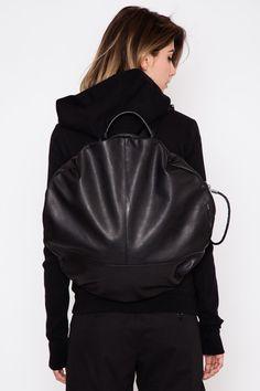 hot sale online f81e8 89899 Cote et Ciel    Leather Alias Moselle Backpack Modern Women, Draped Fabric,  You
