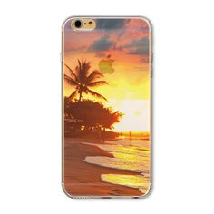Compatible iPhone Model: iPhone 6 Plus,iPhone SE,iPhone Dirt-resistantRetail Package: NoBrand Name: bigbigxuanSize: InchCompatible Brand: Apple iPhonesType: CaseType: Mobile Phone Accessories & PartsMaterial: Soft TPU Iphone 5s, Iphone Cases, Modern City, Iphone Models, Tropical, Shirt Store, Sunset, Stuff To Buy, Painting