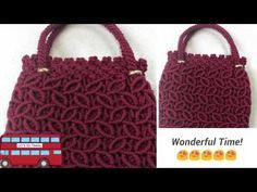 Tutorial Membuat Tas Macrame Motif Ulat By Kenes - YouTube