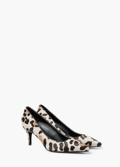Leopard stiletto shoes | MANGO