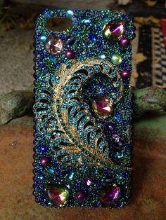 iPhone 5 Pretty Peacock Case by Kianaskases on Etsy, $78.00