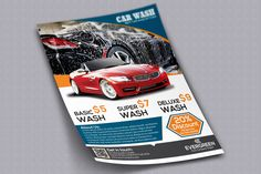 Car Wash Flyer by alauddinsarker on Creative Market