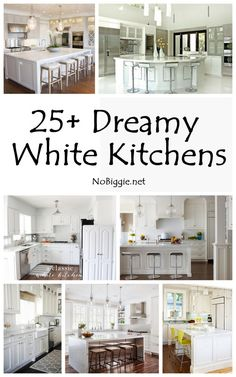 25+ Dreamy White Kitchens - NoBiggie.net
