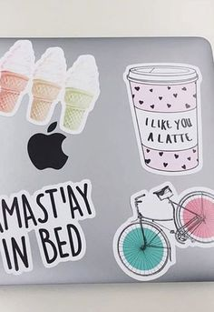 Hey laptop stickers... we like you a latte! Deck out your stuff with these adorable girly stickers from Redbubble, where you'll find all your favorite things.
