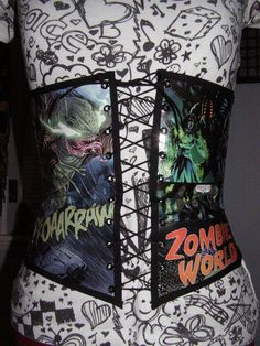 Custom The Original Comic Book Corset Made to by TamedRavenDesigns, $75.00