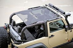 Looking for a summer top that is easy to install and remove? The Rugged Ridge Eclipse Sunshade gives the open air and top down feeling you want, while providing added protection from harsh sunlight. F